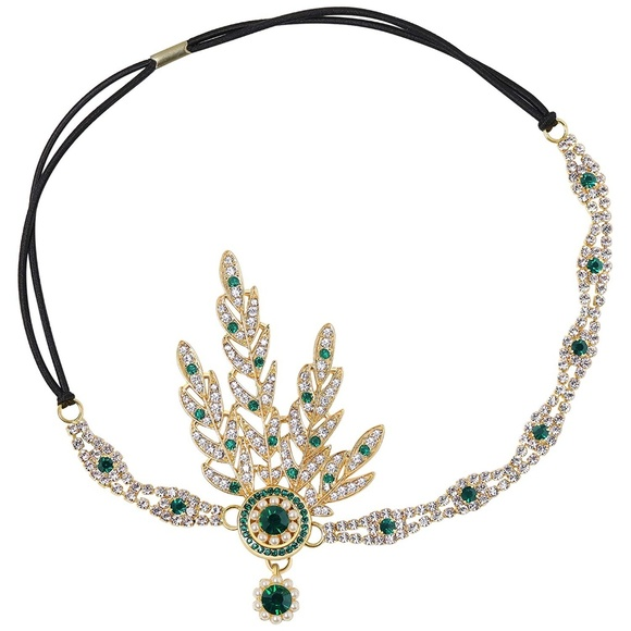 Handmade Eliza Hand Embellished Great Gatsby Vintage Inspired Flapper Headband